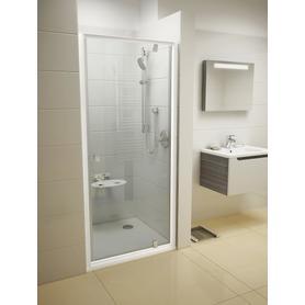 Drzwi prysznicowe PDOP1-80 białe+chrom Transparent  03G40100Z1
