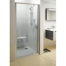 Drzwi prysznicowe PDOP1-90 białe+chrom Transparent  03G70100Z1