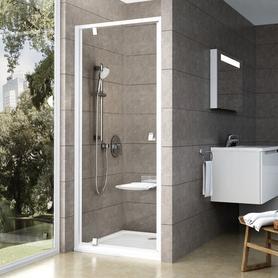 Drzwi prysznicowe PDOP1-90 białe+białe Transparent  03G70101Z1