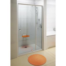 Drzwi prysznicowe PDOP2-110 białe+chrom Transparent  03GD0100Z1