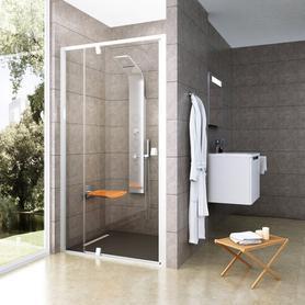 Drzwi prysznicowe PDOP2-120 białe+białe Transparent  03GG0101Z1