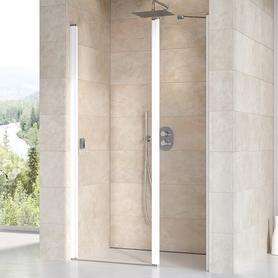 Drzwi prysznicowe CSD2-100 białe Transparent  0QVAC100Z1