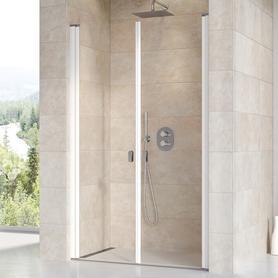 Drzwi prysznicowe CSDL2-120 białe Transparent  0QVGC10LZ1