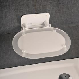 Siedzisko prysznicowe OVO P Clear/White  B8F0000028