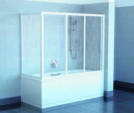 Ścianka prysznicowa APSV-80 satyna+Rain  95040U0241