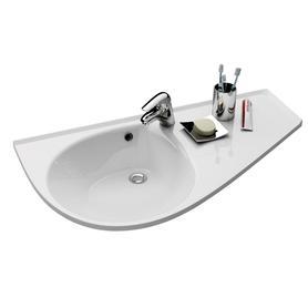 Umywalka Avocado Comfort R biała z otworami   XJ9P1100000