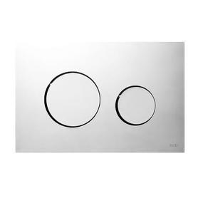 Przycisk spłukujący do WC z tworzywa, chrom połysk 9240626