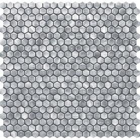Mozaika ścienna Drops metal silver hex 30x30,2 Gat.1