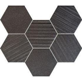Mozaika ścienna Horizon hex black 28,9x22,1 Gat.1
