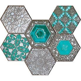 Mozaika ścienna Lace absinthe 28,9x22,1 Gat.1
