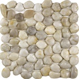 Moz kam 30x30 kamień rzeczny White /9