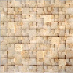Moz kam 30,5x30,5 Cubic kwadraty 3D małe beż /5