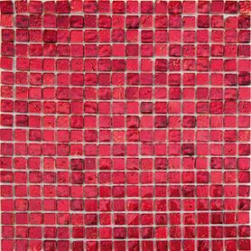 Moz szkl kam 30x30 Ruby pofalowana czerwona /12