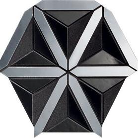 Mozaika ścienna Lucid black 20,5x18,6 Gat.1