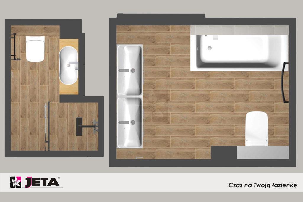 dwie łazienki w 1 domu