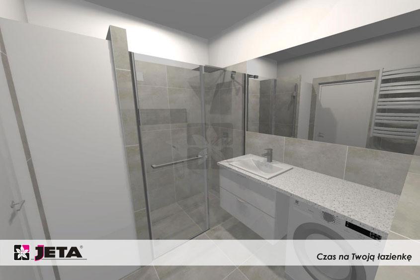 łazienka ze schowkiem