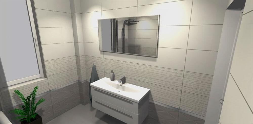 łazienka Dla Singla Pomysł Z Płytkami Tubądzin