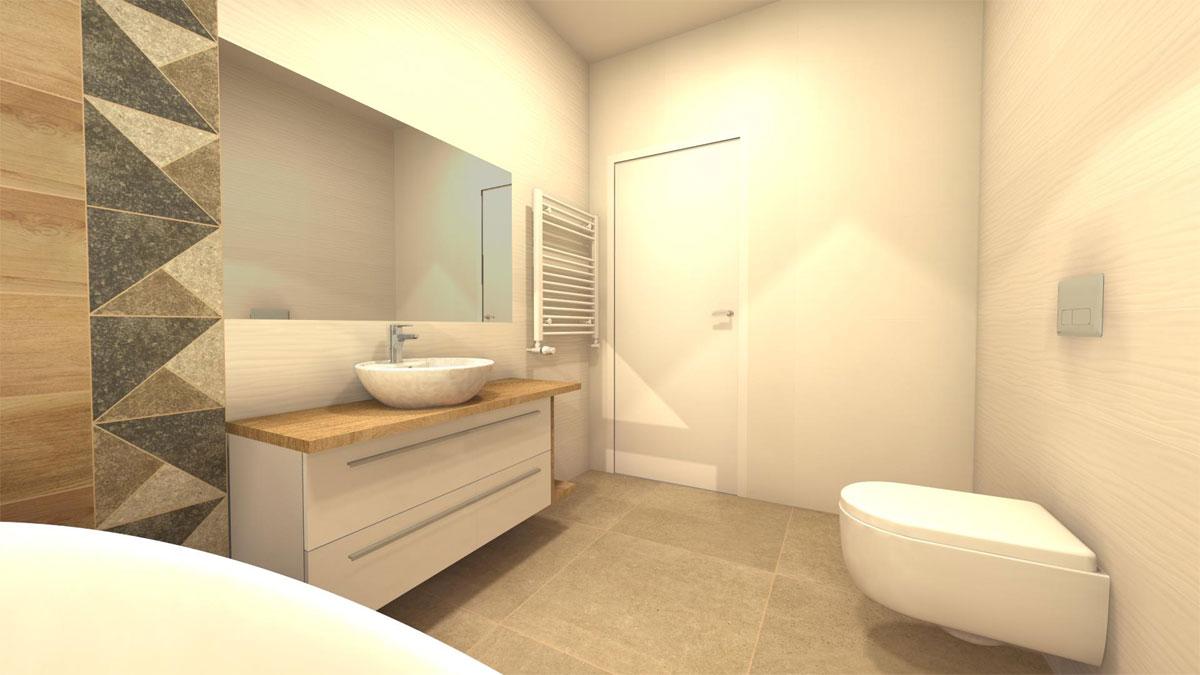 łazienka na poddaszu z wanną