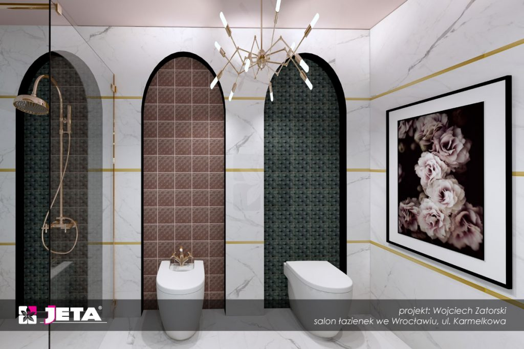 łazienka w stylu lat 20