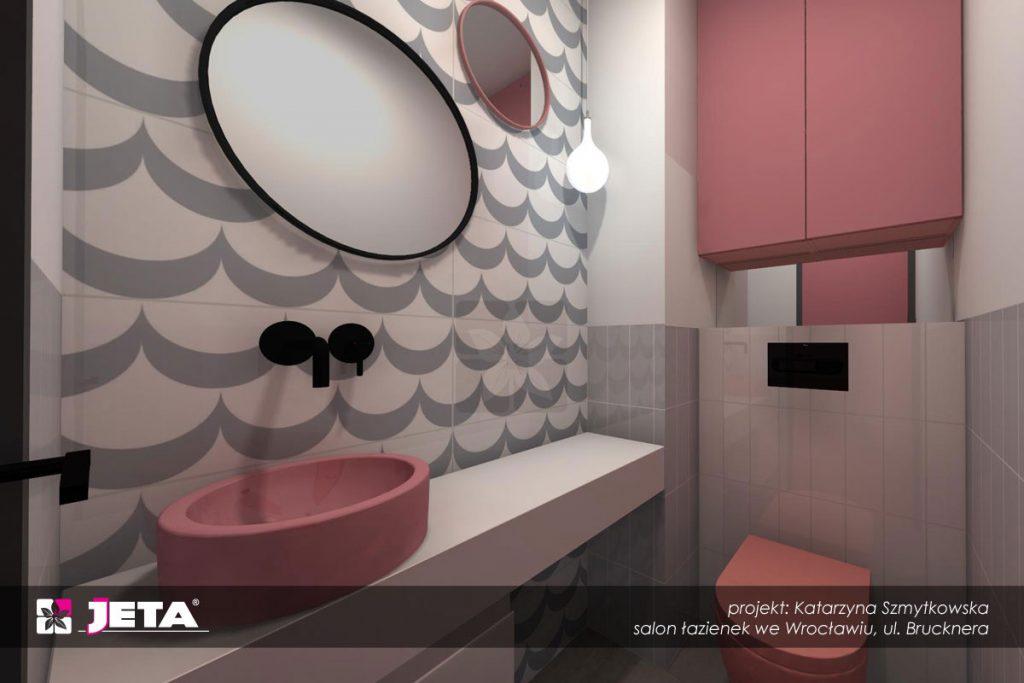 pink trend w łazience
