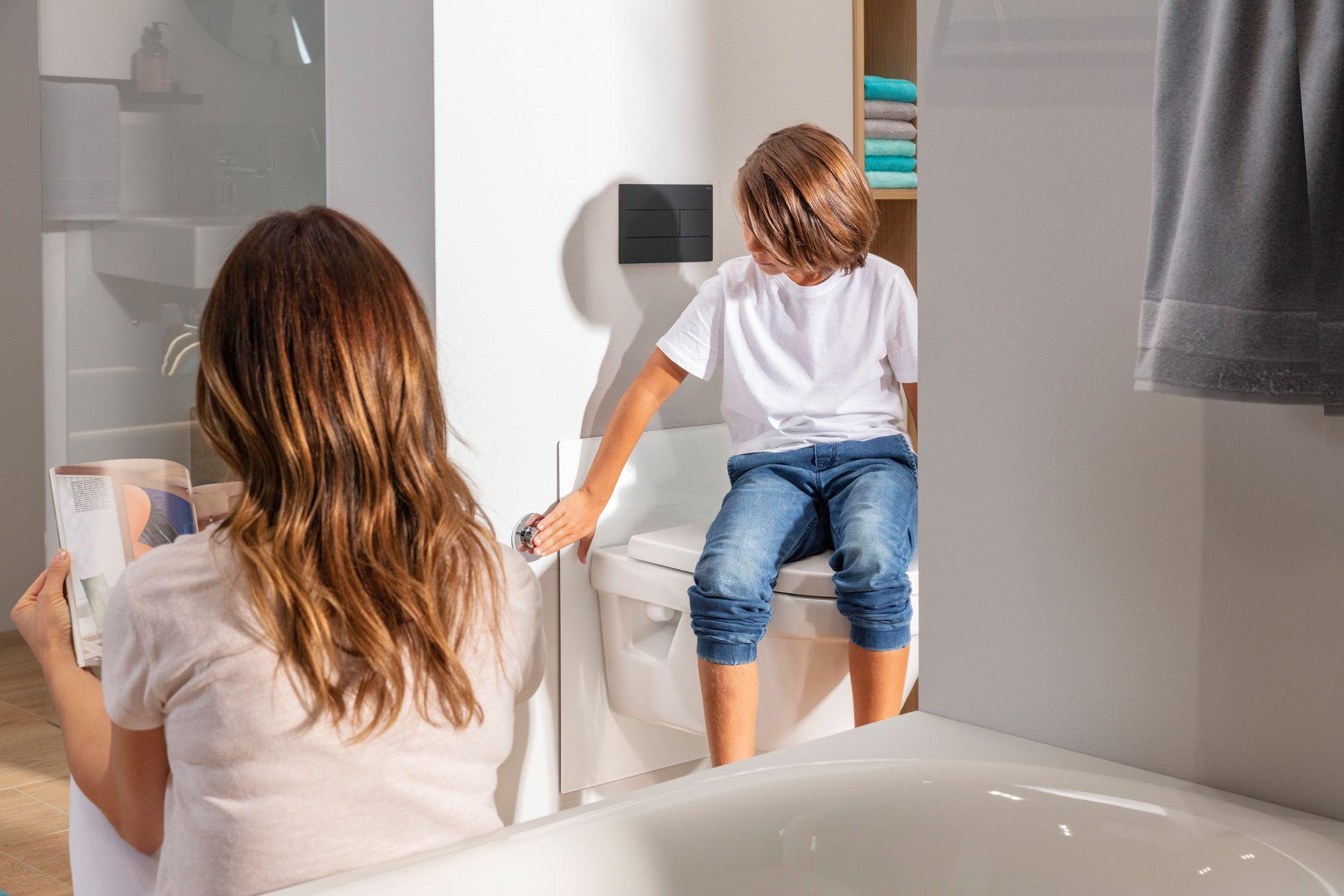 Stelaż EcoPlus Viega umożliwia zmianę wysokości toalety